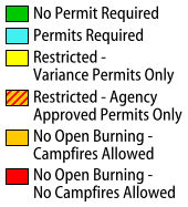 Burning Restrictions Map Legend