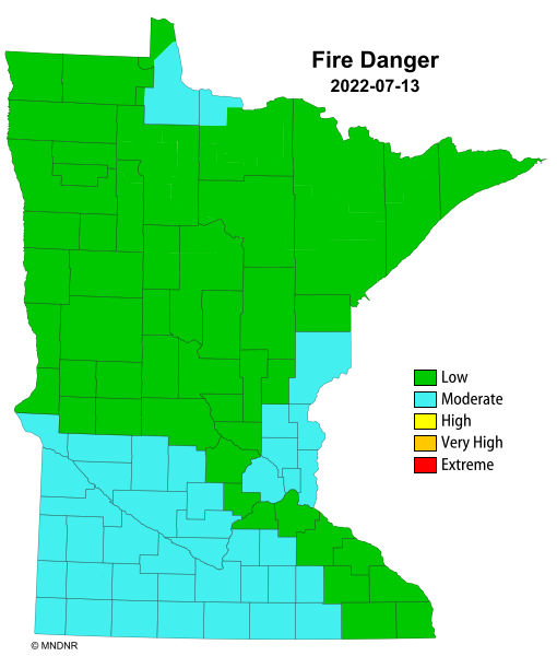 Minnesota Fire Hazard Rating Map   Lake Superior News