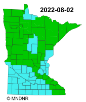 MNDNR Fire Danger Map