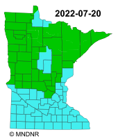Minnesota Fire Danger Rating Map